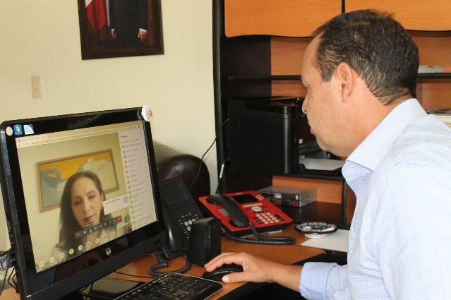 Participa Sedeco en videoconferencia con el IMSS