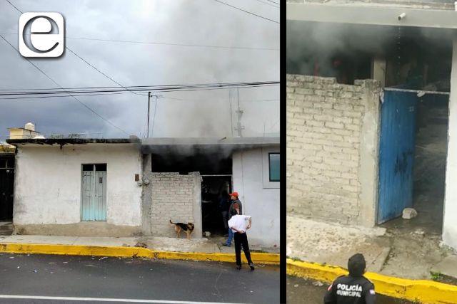 Atiende Policía Municipal incendio en domicilio particular de la Capital