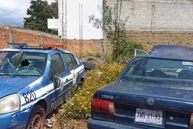 El Picapiedra se llevó partes eléctricas de las patrullas de Tlaltelulco