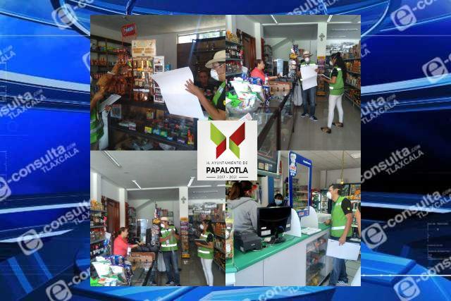 Realizan operativo contra alcohol adulterado en Papalotla
