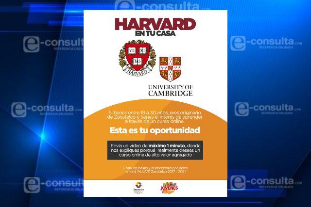 Por cuarentena, Certifica Gobierno de Zacatelco a jóvenes con cursos en Harvard