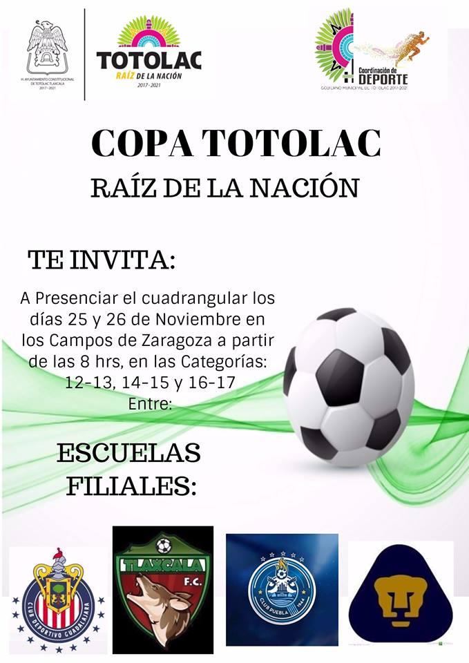 Organizan cuadrangular de futbol soccer Copa Totolac 2017