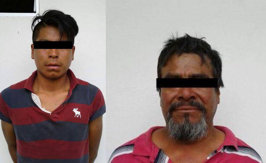 Detienen a dos sujetos después de asaltar a su víctima en SPM