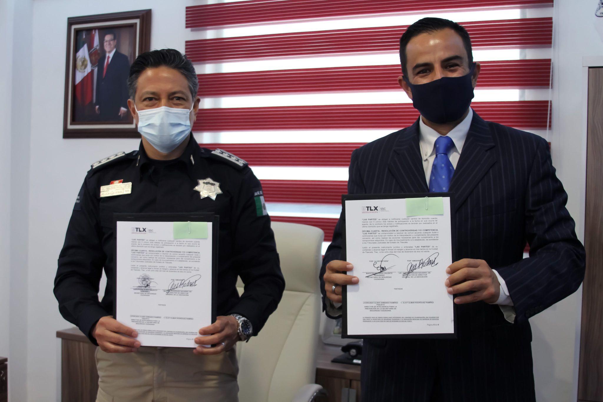 La SSC y Amespre firman convenio para seguridad en compra y venta de objetos usados