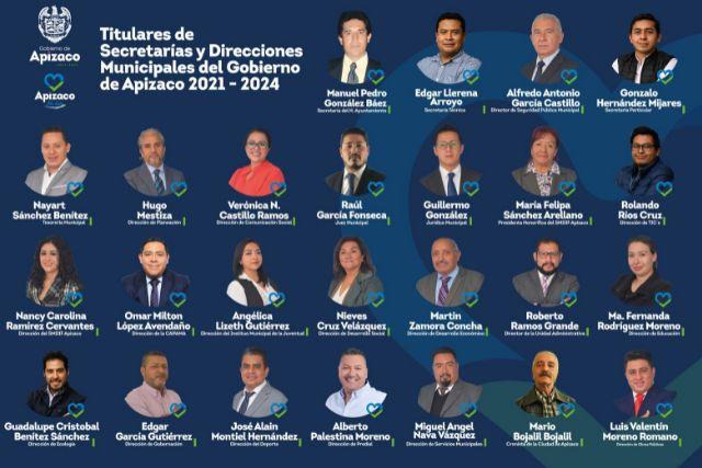 Estos son los nuevos funcionarios del Ayuntamiento de Apizaco 2021 - 2024
