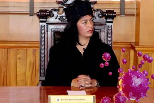 Magistrada Maricruz Cortés provoca contagio masivo de Covid en el TSJE