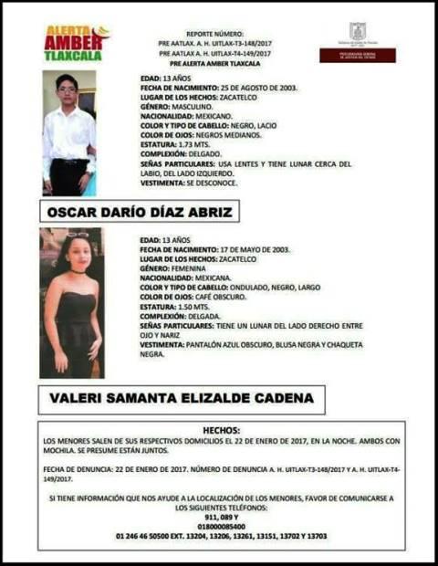 Desaparecen dos menores de edad en Zacatelco en el marco de la feria anual