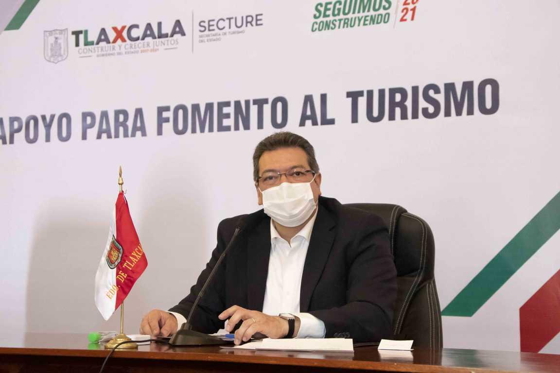 Marco Mena anuncia apoyos por 3 mdp al sector turístico