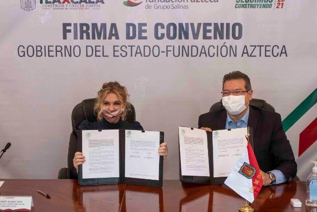 Marco Mena y Fundación Azteca acuerdan instalación de escuela para estudiantes destacados