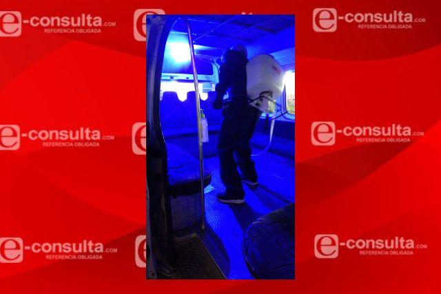 Cerca de 100 unidades de transporte público fueron sanitizadas en Santa Cruz Tlaxcala
