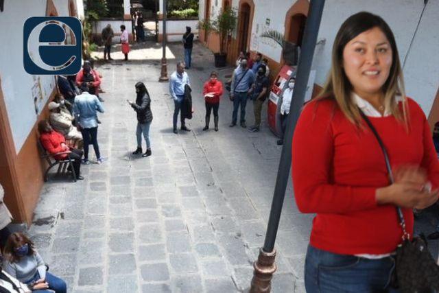 No pagan en el ayuntamiento de Tlaxcala, trabajadores se manifiestan
