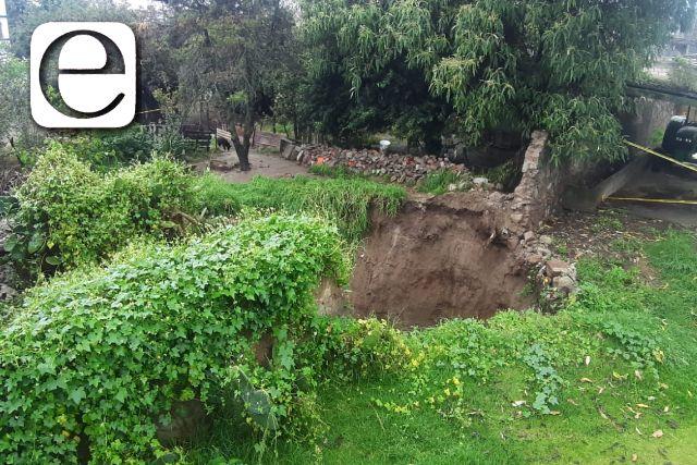 Aparece socavón en Huamantla; 14 personas fueron evacuadas