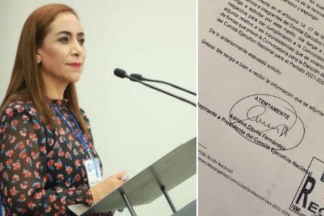 Adriana Dávila acusa proceso amañado para elegir al nuevo dirigente del PAN