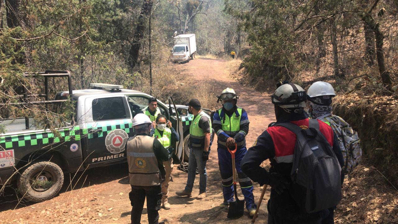 Activa CEPC sistema de incidentes ante incendios forestales en terrenate y Tlaxco