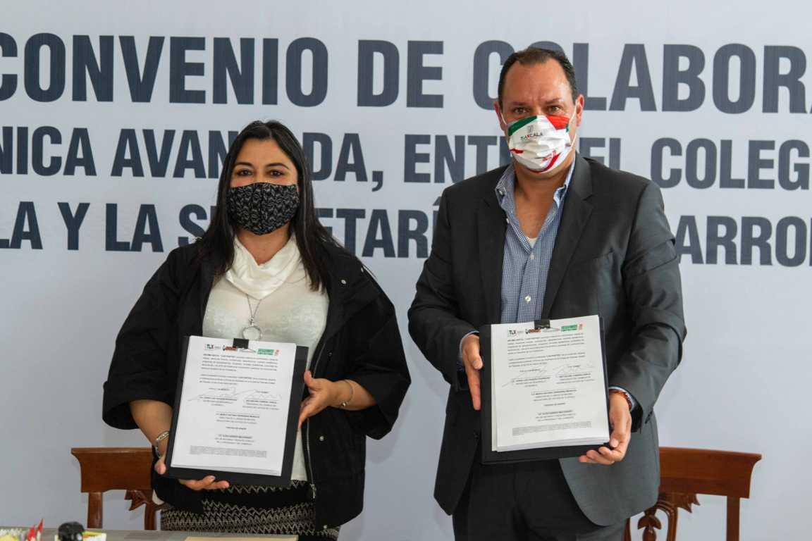 Signan Sedeco y Colegio de Notarios del Estado de Tlaxcala convenio para implementar firma electrónica