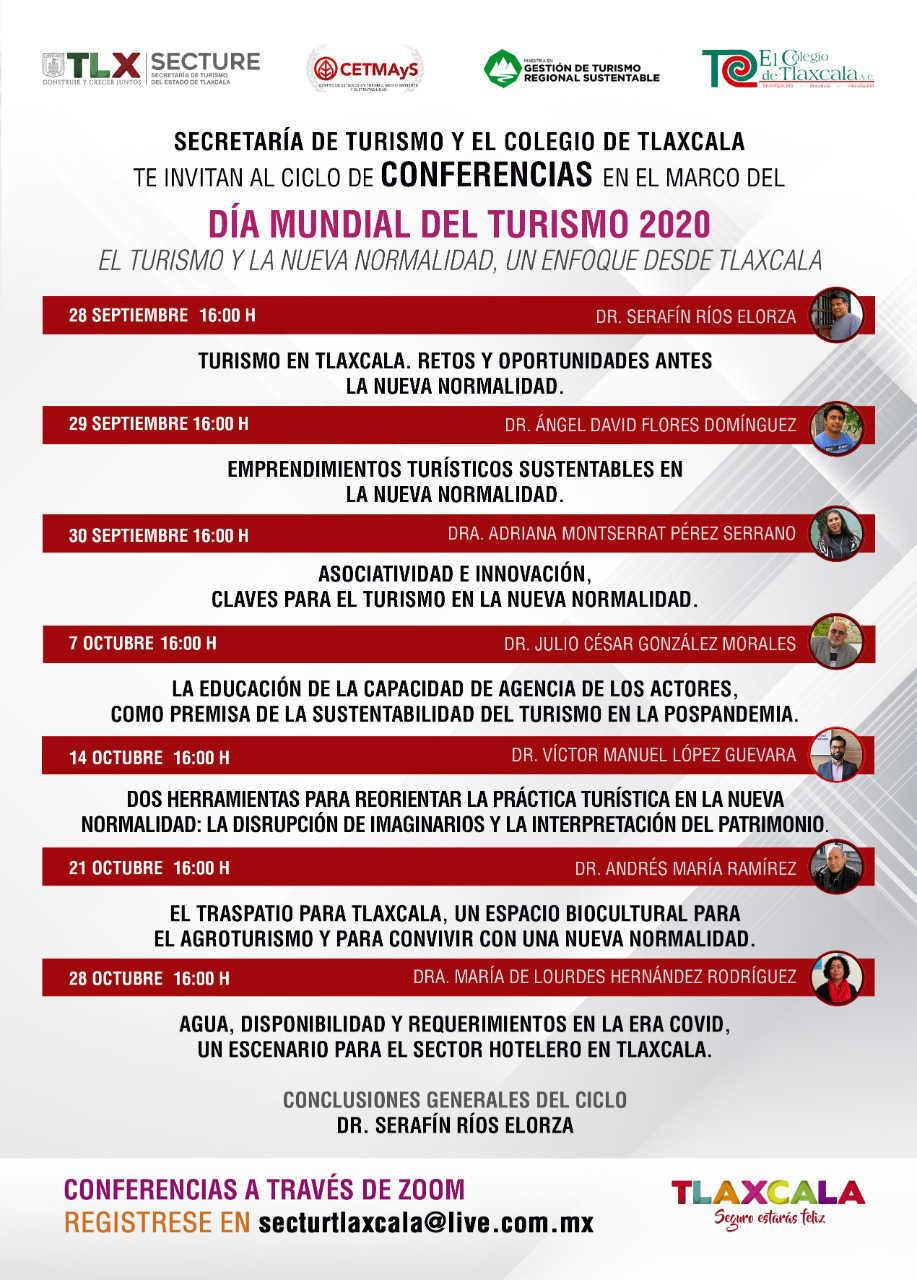 Realizarán Secture y Coltlax ciclo de conferencias en el marco del Día Mundial Del Turismo