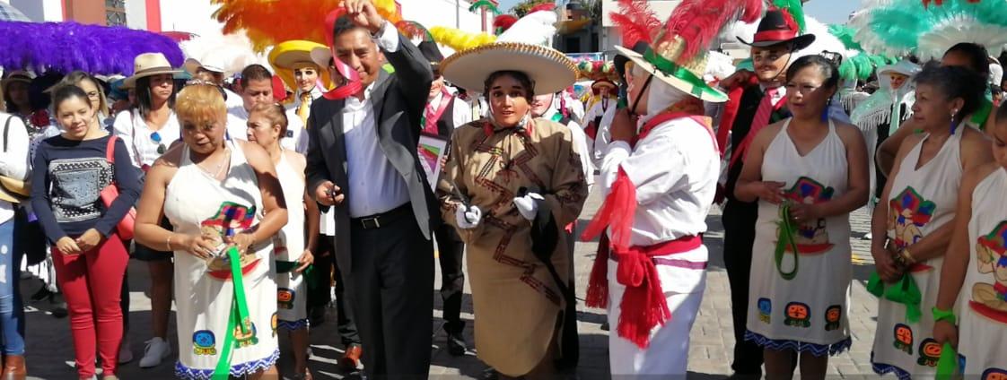 Jesús Herrera presume la cultura y tradición de Papalotla con el carnaval 2020