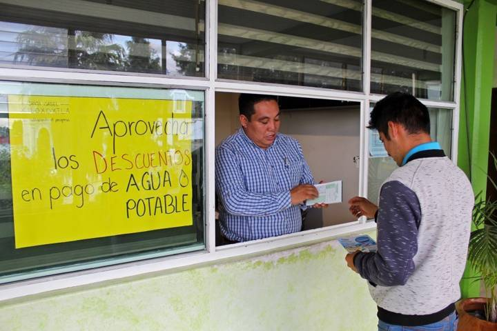 En Xiloxoxtla arranca campaña de descuento de agua potable