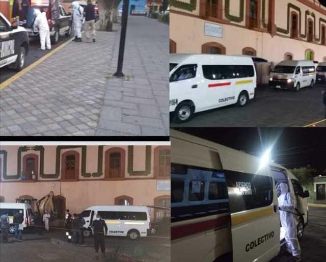 Municipio de Santa Cruz Tlaxcala realiza sanitización en unidades de transporte público