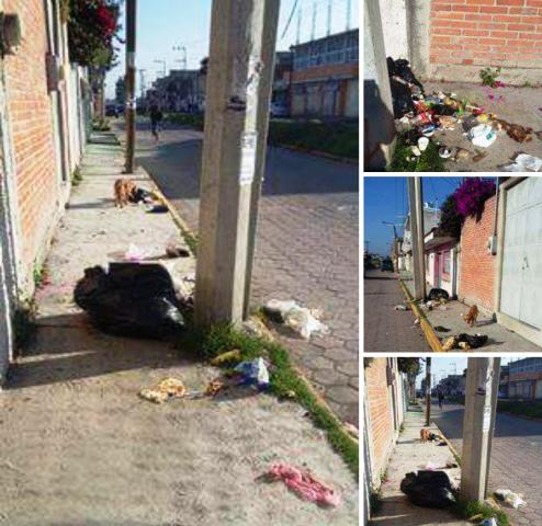 Calles de Chiautempan convertidas en basureros