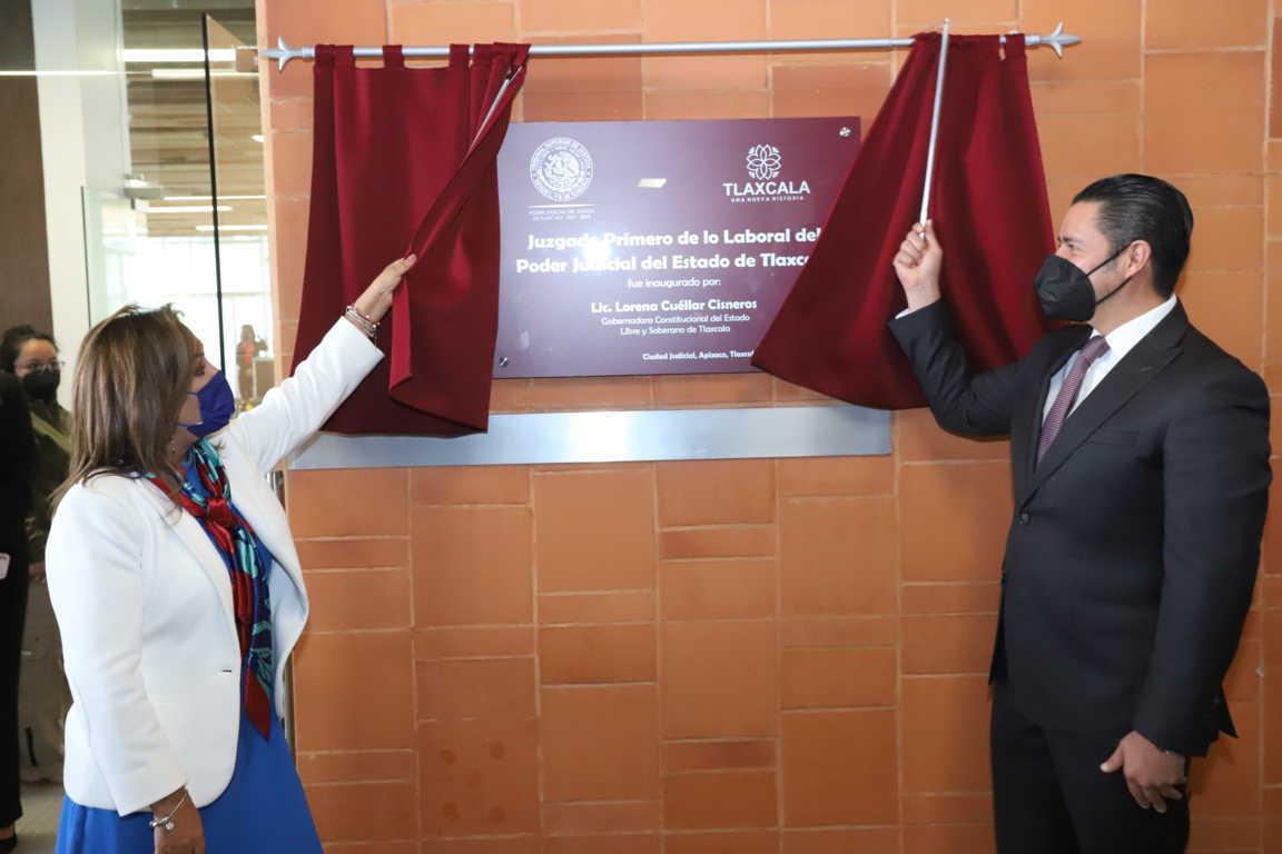 Gobernadora Lorena Cuéllar inauguró juzgado primero de lo laboral en Ciudad Judicial