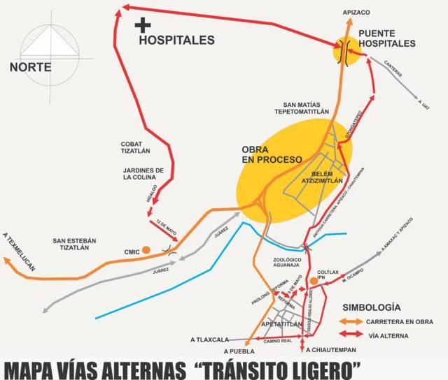 Habilitan nueva ruta alterna de Tlaxcala a Apizaco