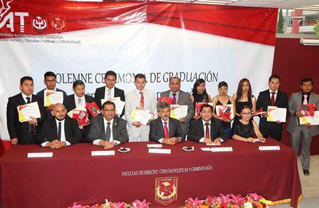 Egresó la generación 2012-2016 de la Licenciatura en Derecho