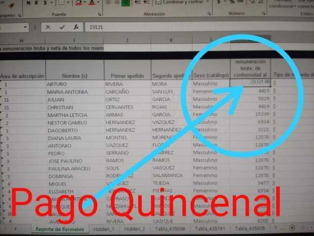 Mi sueldo mensual es de 46,242 está en la página de trasparencia: Rivera Mora