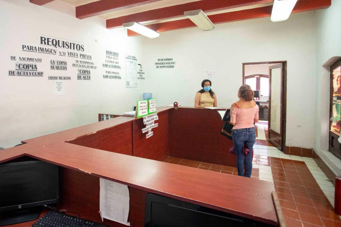 Registro Civil del Estado atiende trámites esenciales en sus oficinas