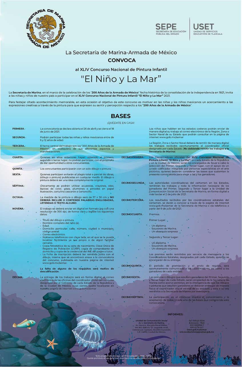 Invita SEPE a niñas y niños a participar en CONCURSO NACIONAL DE PINTURA INFANTIL EL NIÑO Y LA MAR