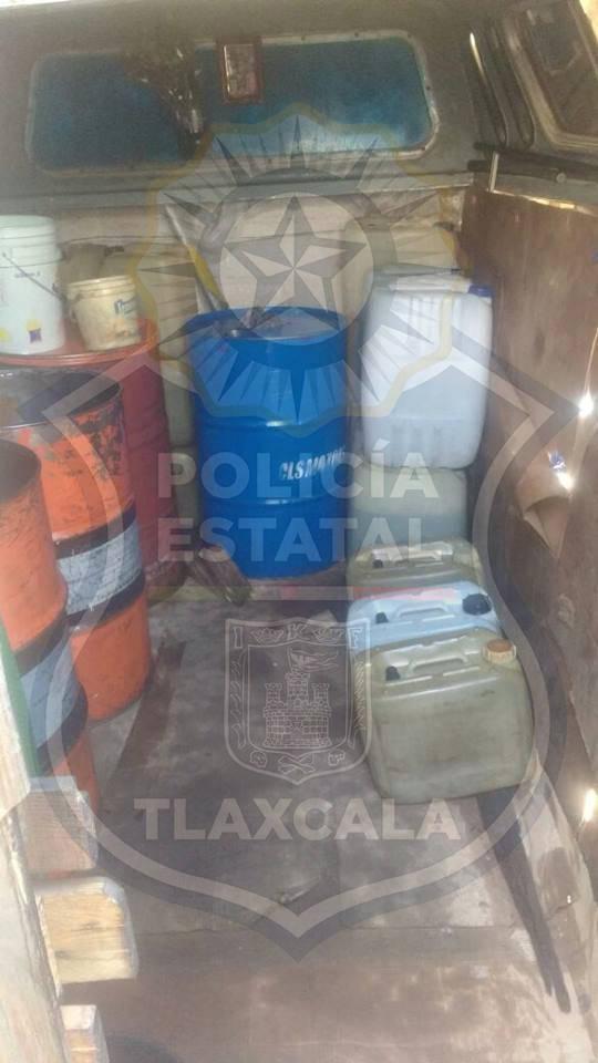 Detienen a cinco huachicoleros en Tequexquitla