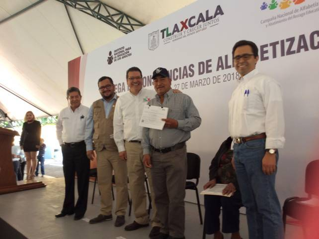 Con 2.8 % Tlaxcala está arriba del promedio nacional de alfabetización