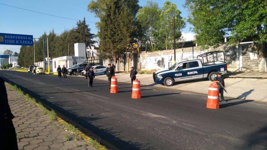 Se realiza operativo interinstitucional fronterizo en el Municipio de Papalotla