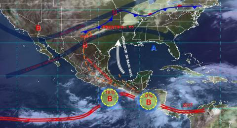 Pronóstico del tiempo en México para miércoles 29 de mayo del 2019