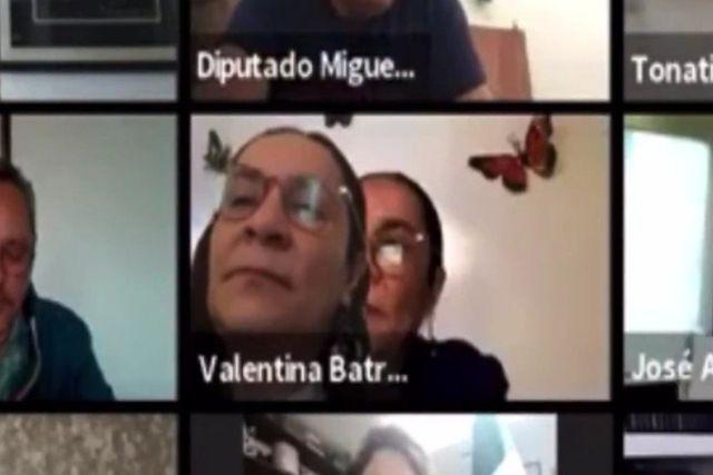 Descubren a diputada de Morena fingir que está atenta a una reunión virtual