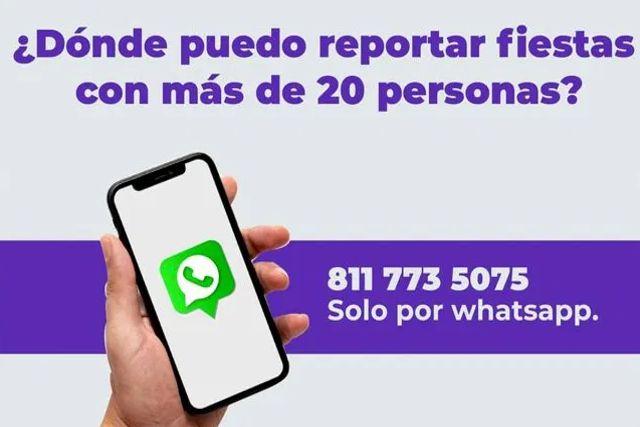 Lanzan línea para reportar reuniones ó fiestas de más de 20 personas en Nuevo León