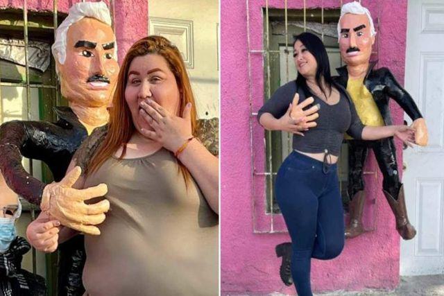 Crean piñata de Vicente Fernández tras sus escándalos de acoso sexual a jovencitas