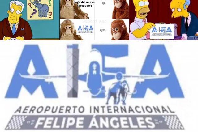Se burlan del nuevo logo del Aeropuerto de Santa Lucía; ¿Y ese Mamut?