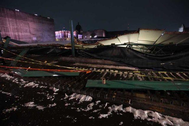 Se derrumba Templo Mayor ante fuertes lluvias en CdMx
