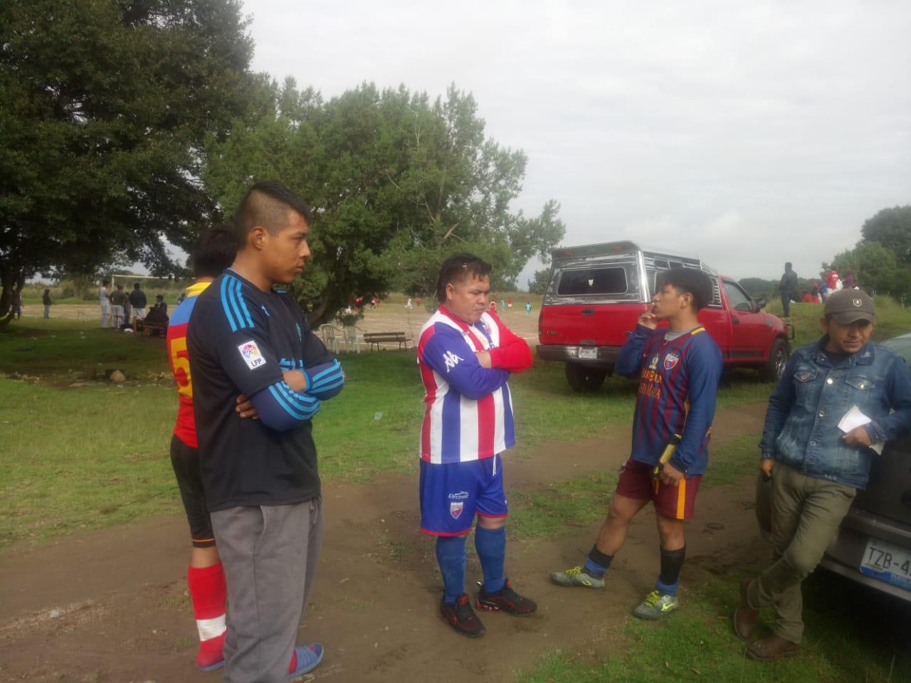 Suspenden partido de futbol en San Isidro Buensuceso