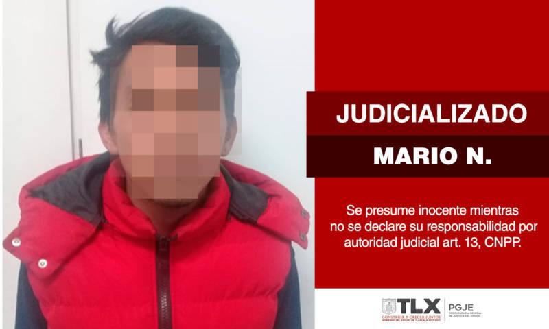 Judicializa PGJE a imputado por robo a escuela en Chiautempan