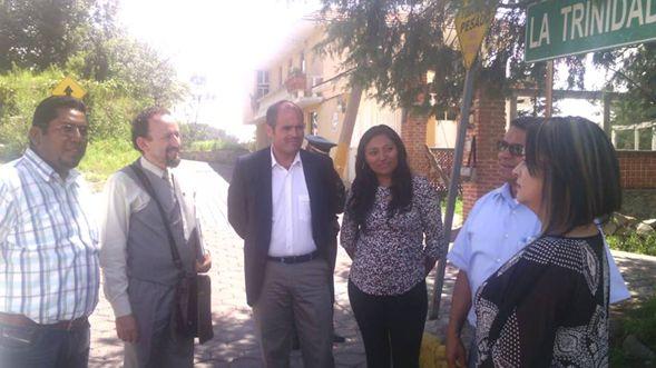 Alcalde electo de Santa Cruz Tlaxcala se reúne con representante de pueblos magicos
