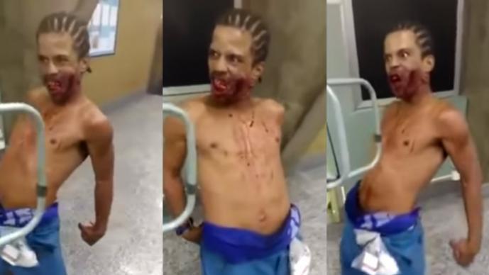 Hombre poseído causa pánico en hospital