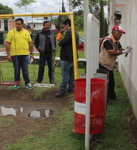 Autoridades federales y municipales promueven en Tepetitla taller de pintura
