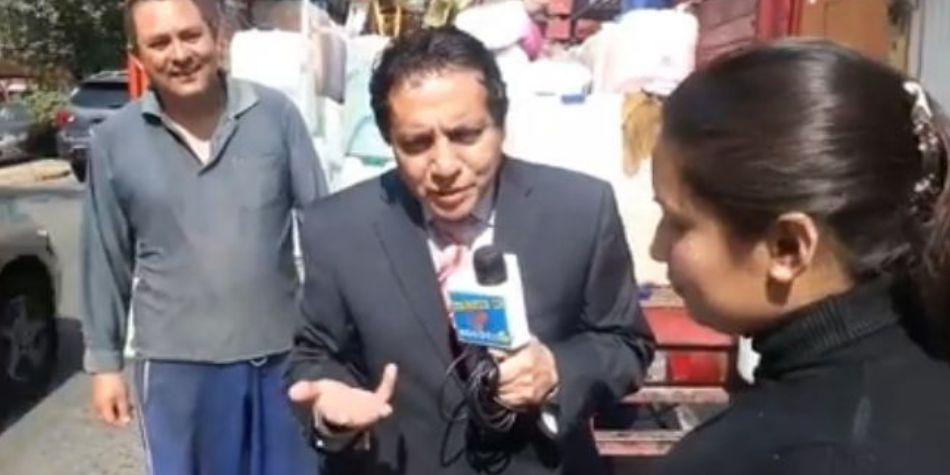 Tremenda sorpresa se llevó un reportero hacia un supuesto huachicolero
