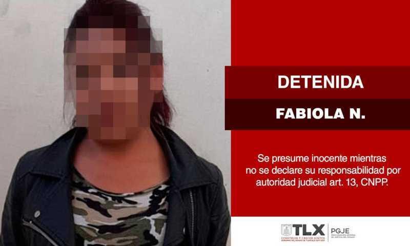 Captura PGJE a imputada relacionada con secuestro perpetrado en Apizaco