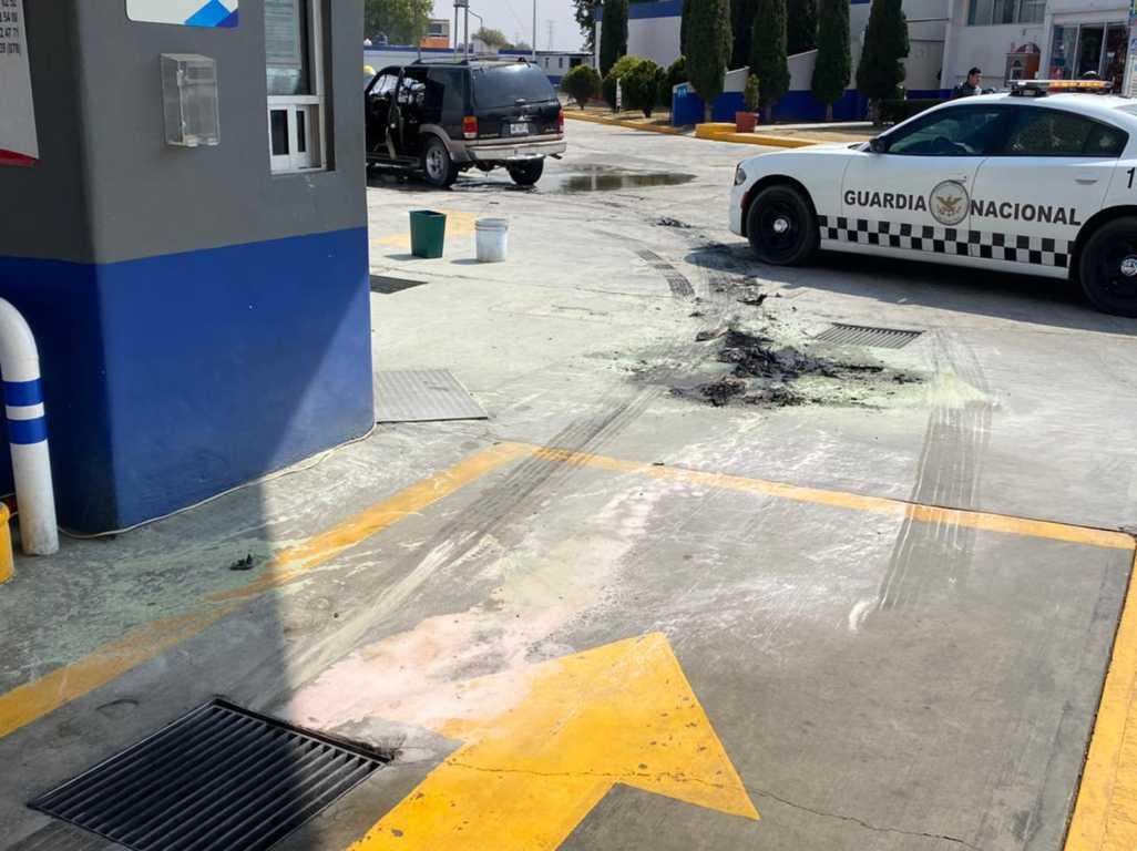 Evita Guardia Nacional incendio de grandes dimensiones en gasolinería de Tlaxcala