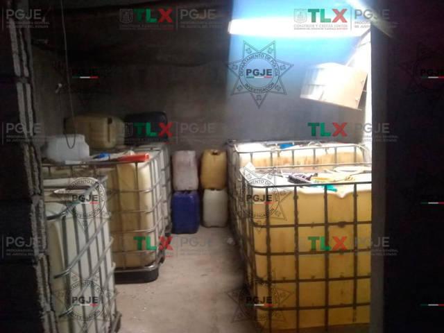 Asegura PGJE predio con hidrocarburo ilegal en Tlaxco