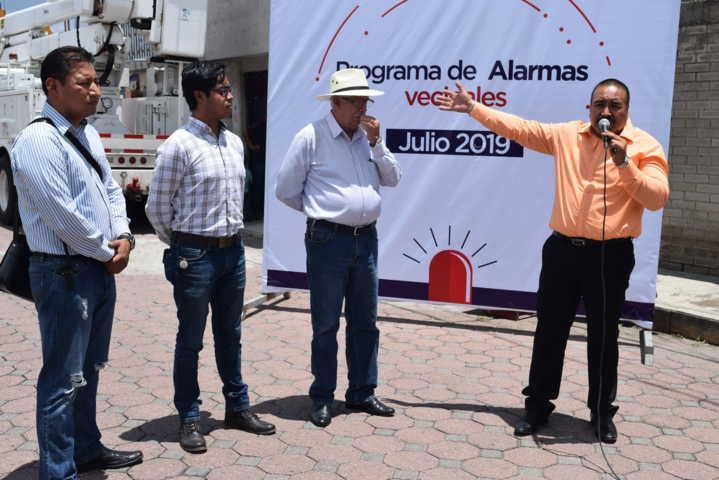 Instalará Gobierno Municipal 12 alarmas vecinales en Xicohtzinco