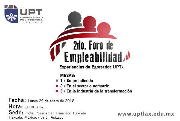 Invita Uptx A 2do Foro de Empleabilidad
